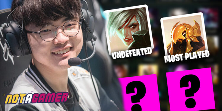 Every records of champions that Faker picked in pro league of legends 1