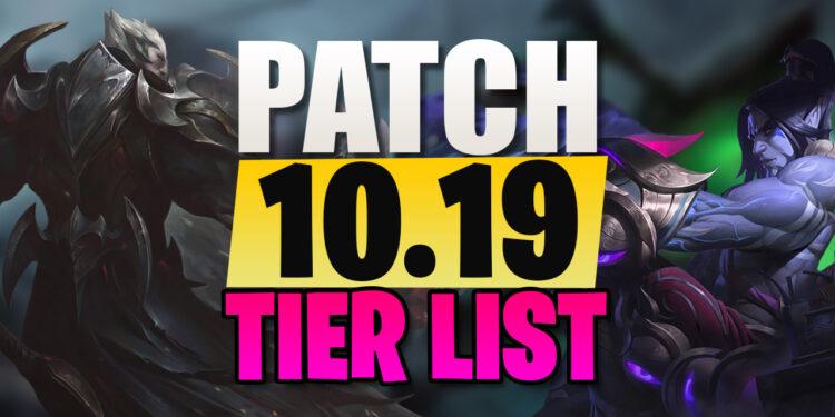 Top Champions Tier List League Patch 10.19 1