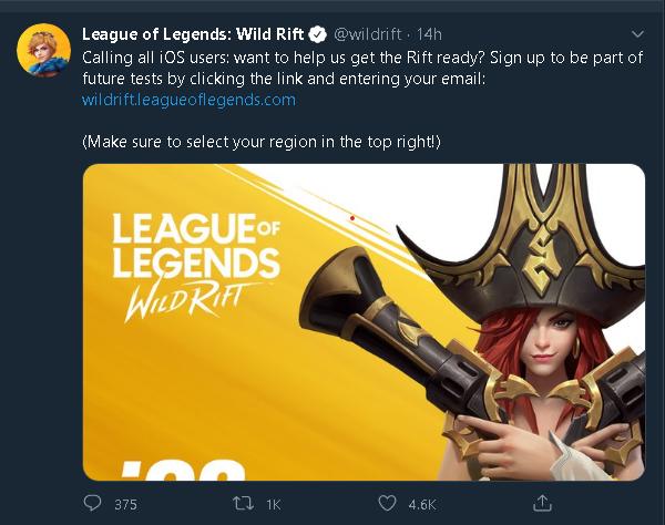 League of Legends: Wild Rift iOS updates 2
