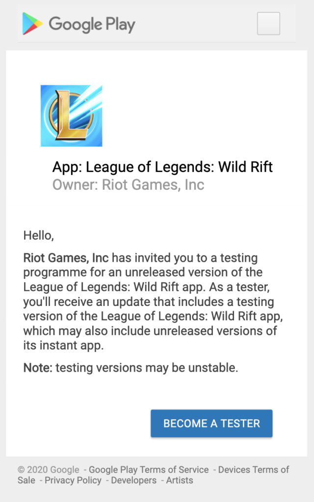 How to join League of Legends: Wild Rift Closed Beta 2 5