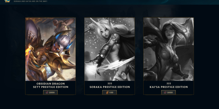 Upcoming Skins Updated: Splash Arts, Prestige Edition, and Miscellaneous. 1