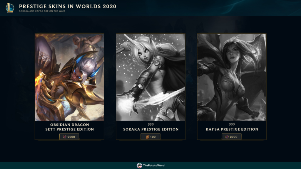 Upcoming Skins Updated: Splash Arts, Prestige Edition, and Miscellaneous. 10