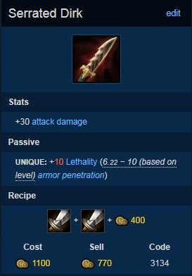 Miss Fortune Broken Build with Serrated Dirk. 3