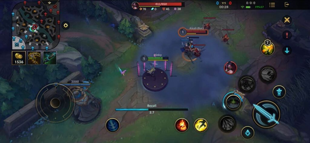Wild Rift: Akali can recall without being exposed by using K/DA ALL OUT skin 1