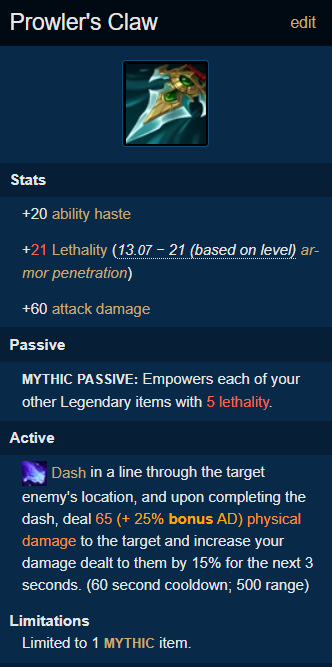 Blue Kayn build from pro-players - patch 11.3 3
