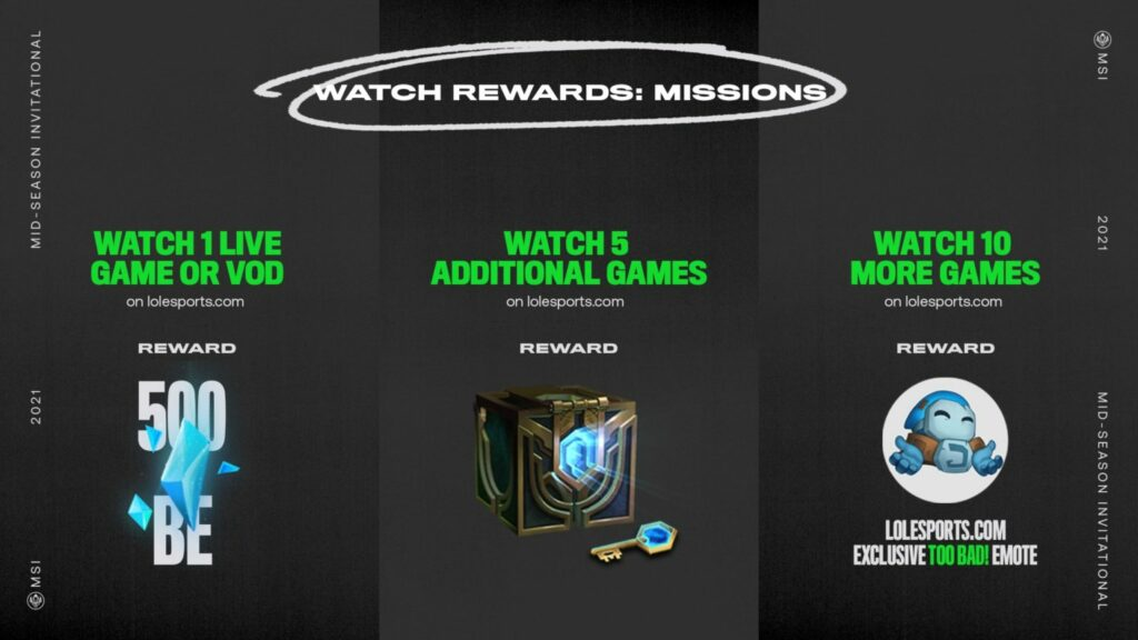 MSI 2021: Riot is giving away free and exclusive rewards and how to earn them 1