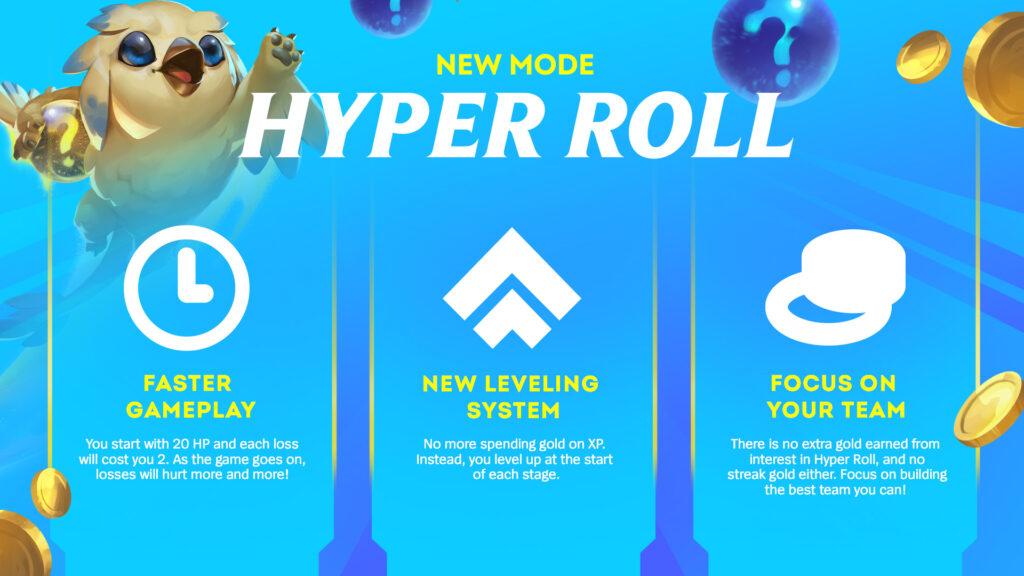 Hyper roll! A new game mode of Teamfight Tactics 3