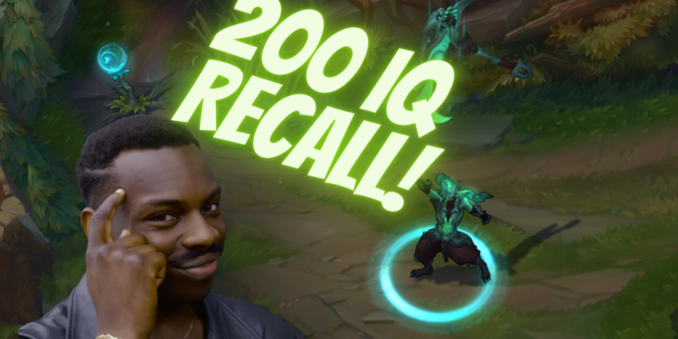 """League of legends: Win your lane with good old """"Fake recall"""" trick! 1"""