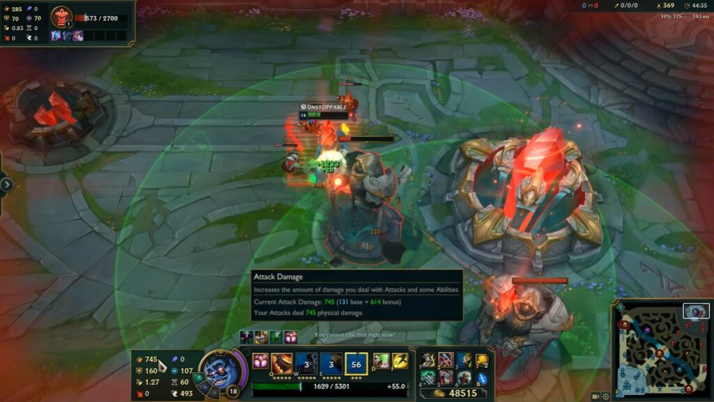 Reworked Dr. Mundo can gain up to 750 AD with only Tank items 2