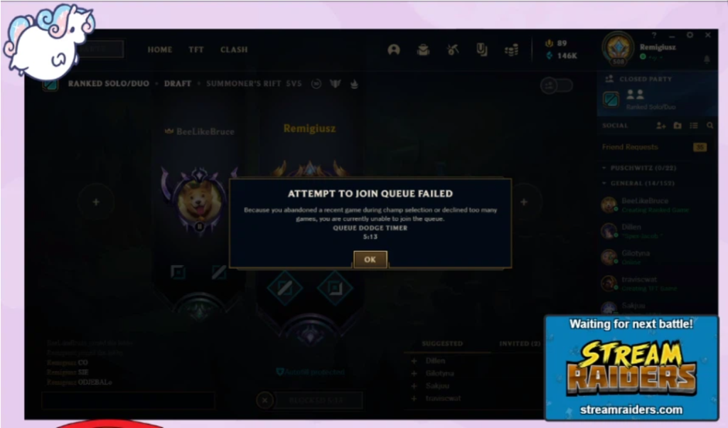 League Client bug that automatically disconnects and makes gamers suffer penalties 2