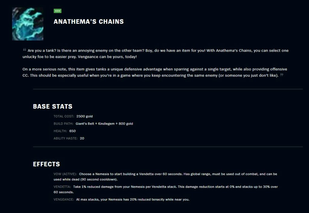 How to use Anathema's Chains effectively? 1