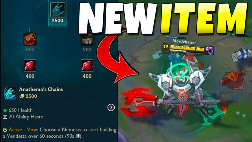 League PBE: 2 new Tank items are introduced into the game 1