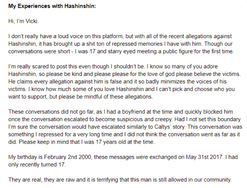 Hashinshin faces more sexual harassment accusations against under-age female players 2