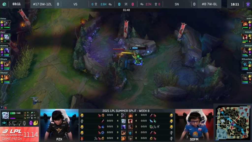 Victory Five Jungler forgot to take Smite in an LPL match, resulting in his team losing against Suning 1