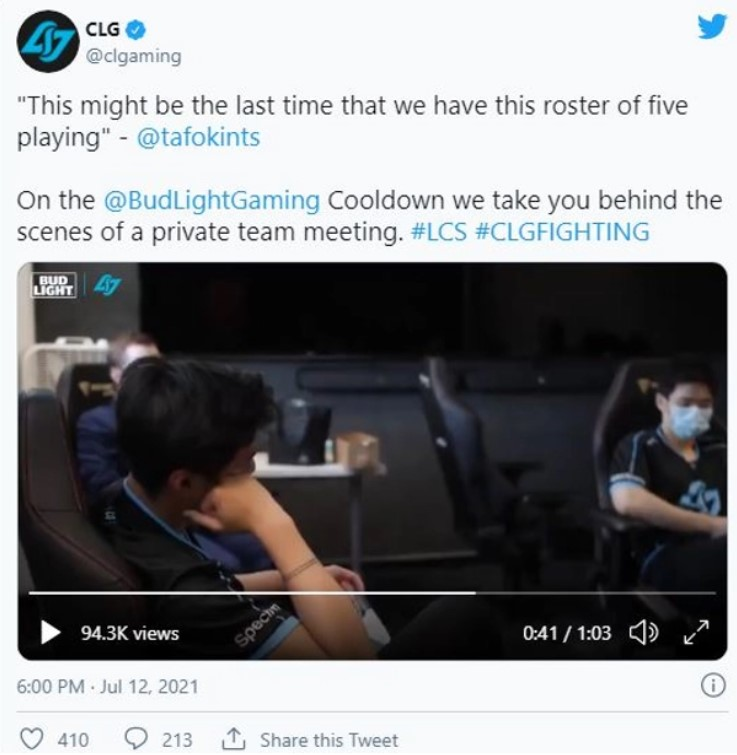 DRAMA: CLG deleting and apologizing for their meeting video of roster swapping 1