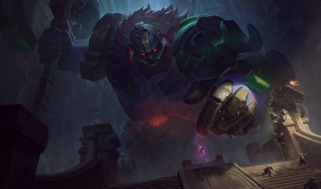 A Sion bug transforms the champion into a monstrous tower. 2