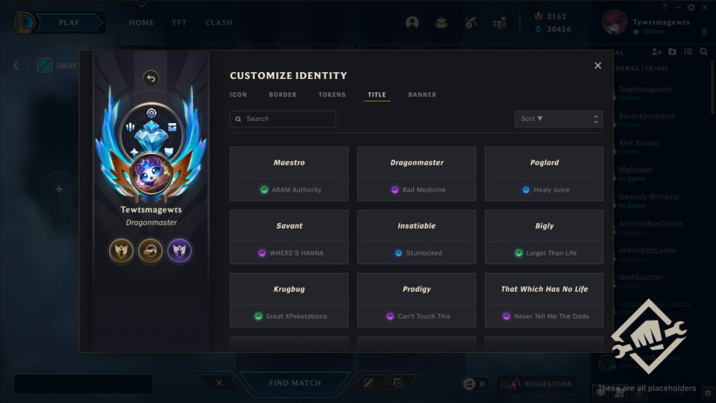 """Riot on """"Progression identity"""" by the end of this year: Lobby update, new titles, new contents, and many more 5"""