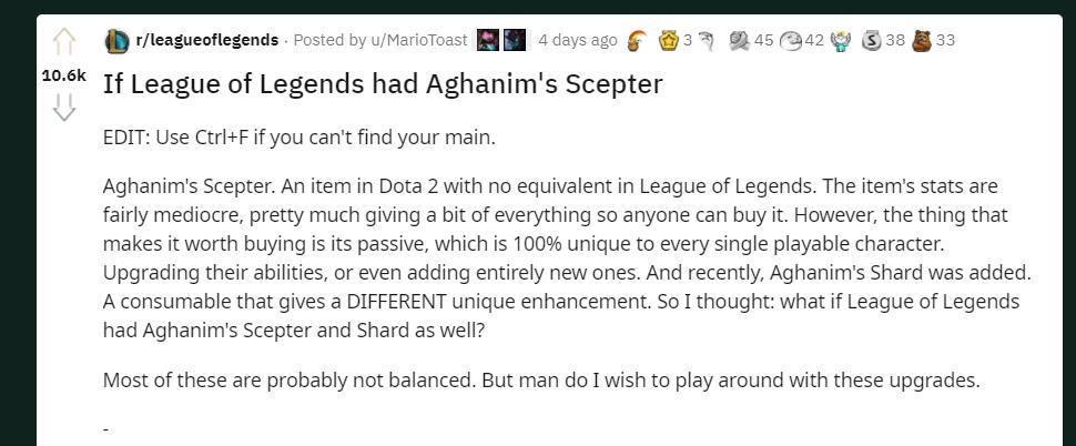 What if League has Aghanim's Scepter like DOTA2? 2