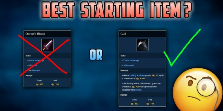 Guide: How to purchase starting items properly for ADC? 1