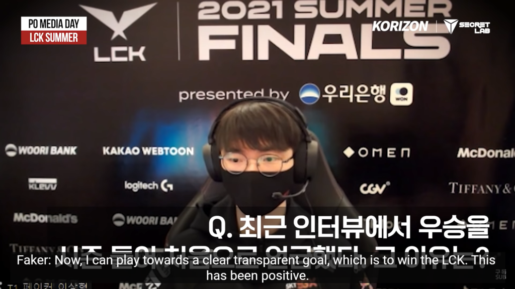 Faker didn't hesitate but to predict the LCK Finals score will be 3-0 in front of kkOma 3