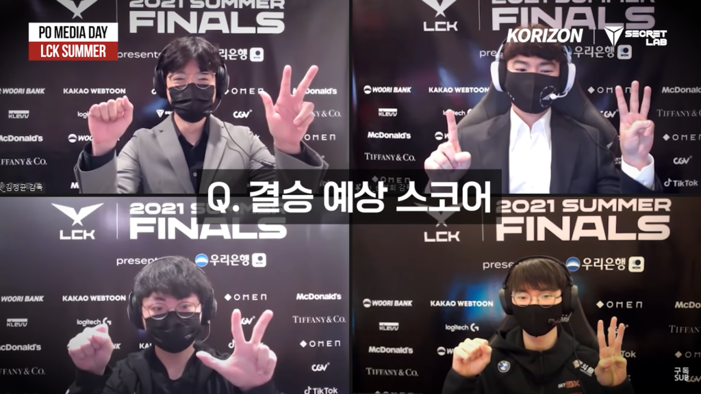 Faker didn't hesitate but to predict the LCK Finals score will be 3-0 in front of kkOma 2