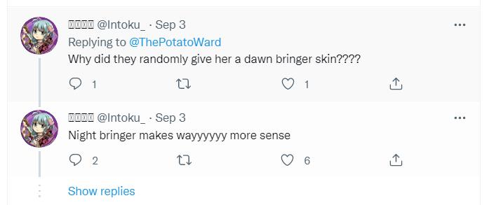 Dawnbringer Vex skin design made the fan community outrage against Riot Games 2