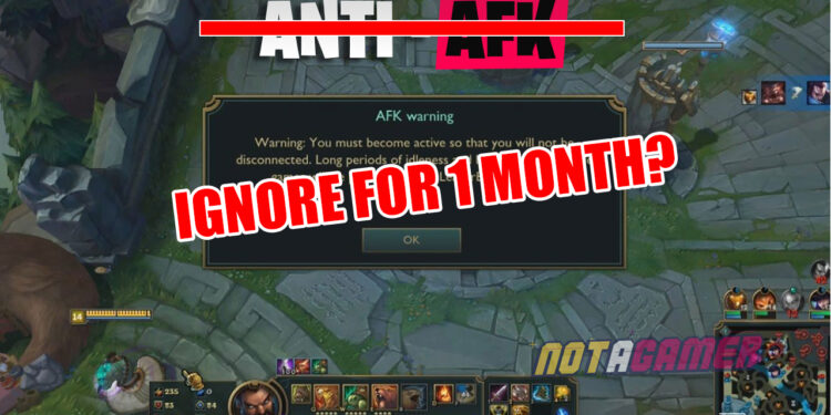 Despite previous announcements, Riot ignored an account continuingly AFK for one month 1