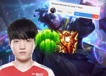 T1 Keria plays ekko support