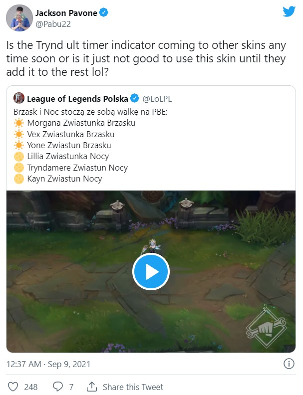 """Players concern that the new Nightbringer Tryndamere skin will be a """"pay-to-lose"""" skin 2"""