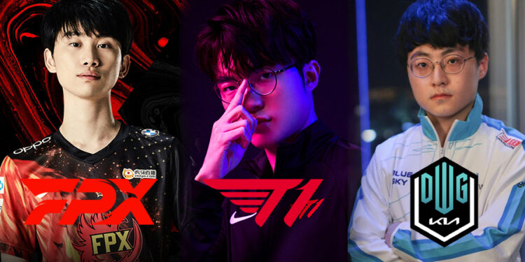 Top strongest lineup team voted by Korean League community: Faker is set in 4 out of 5 teams 3