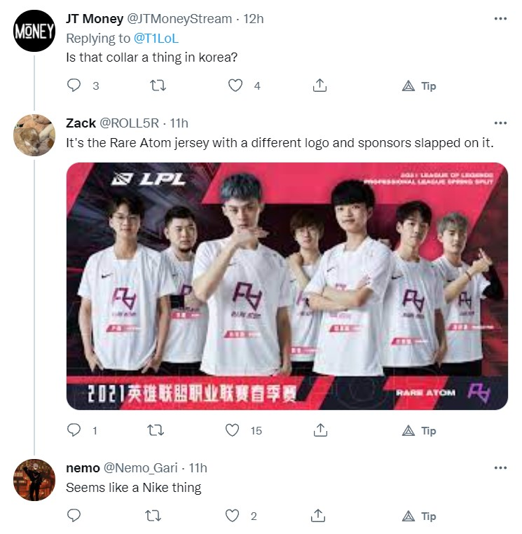 T1 announced their Official Worlds jersey, fans strongly criticized 3