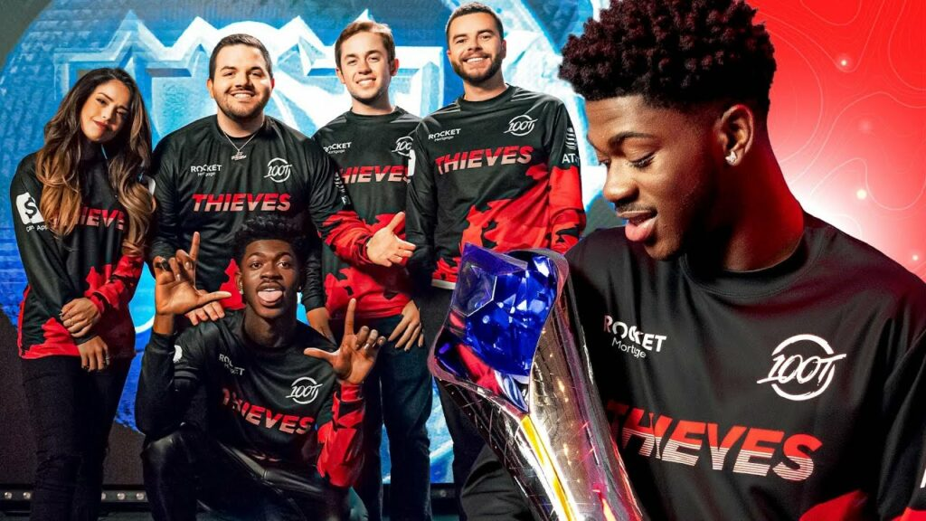 100 Thievesand Lil Nas X collaboratein a hype video for Worlds 2021 1